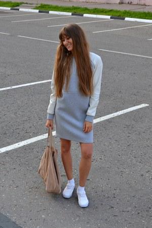 heather gray asos dress