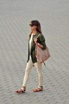 cream Zara top
