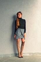 heather gray unknown skirt