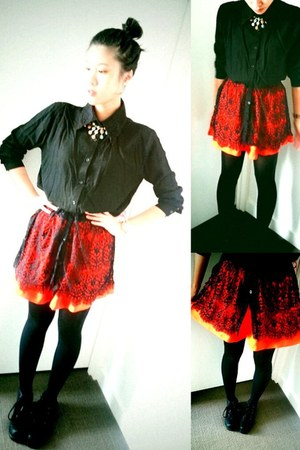 black Style TIba boots - carrot orange Sally Rose shorts