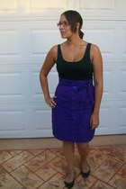 purple Made by me skirt - black Barkins shoes - black K-mart