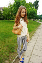 JollyChic leggings - Sheinside shirt - orange JollyChic bag