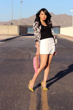 black floral print Forever 21 blazer - hot pink aztec Target bag