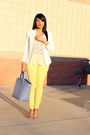 Ivory-crochet-target-top-light-yellow-pastel-zara-pants