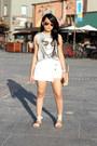 Tan-crossbody-celine-bag-white-skort-zara-skirt