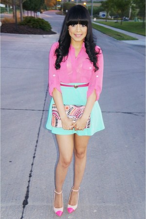 bubble gum Forever 21 blouse