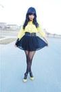 Black-polka-dots-asos-tights-black-forever-21-skirt
