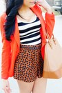 Carrot-orange-forever-21-blazer-burnt-orange-heart-print-forever-21-shorts