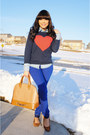 Blue-forever-21-jeans-navy-heart-forever-21-sweater