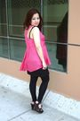 Pink-new-look-top-black-h-m-skirt-black-new-look-leggings-black-steve-madd
