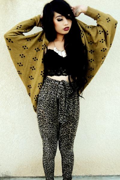 leopard Forever 21 pants