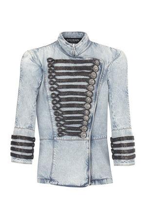blue Balmain blazer