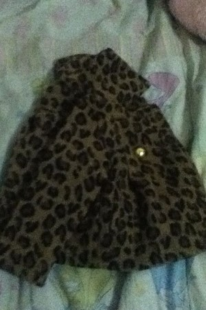 dark brown cheetah print Old Navy coat