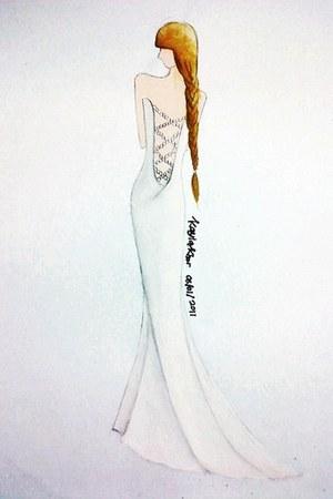 white dress - white heels