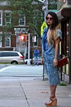blue jeans vintage from Ebay dress - brown vintage bag - vintage sunglasses