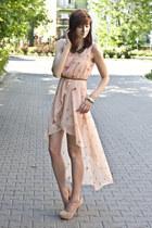 collar romwe necklace - pink Sheinside dress