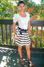 Gray-h-m-blouse-gray-forever-21-skirt-brown-shoes