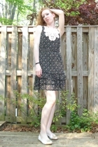 Anthropologie dress - stuart weitzman shoes - radom mall kiosk necklace - Anthro