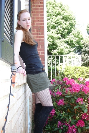 Forever21 top - Target skirt - stockings - Claires socks - Wet Seal earrings - N