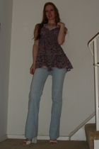 JCpenney top - forever 21 jeans - JCpenney necklace - Wild Pair shoes
