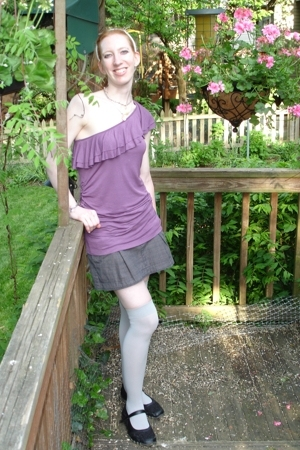 Target top - American Eagle skirt - socks - Ebay shoes - self-made accessories