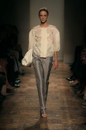 silver Gabriele Teare pants - silver Gabriele Teare shoes - white Gabriele Teare