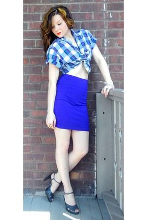 vintage heels - vintage skirt - vintage top