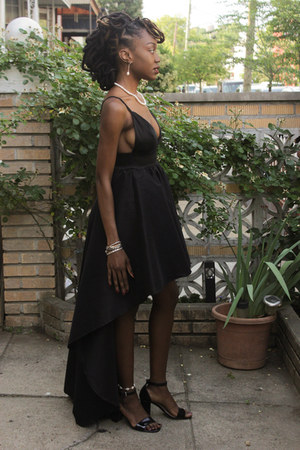 black high-low GoJane dress