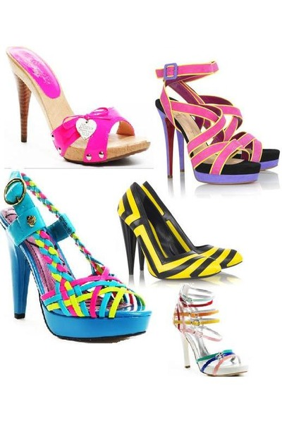 Hot Pink Heels, Yellow Heels, Black Heels, Turquoise Blue Heels ...