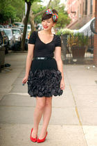 black vintage skirt - black H&M dress
