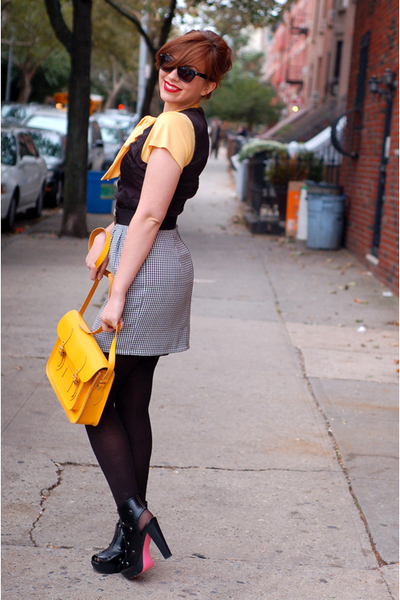 black modcloth dress - black ailce & olivia for payless shoes
