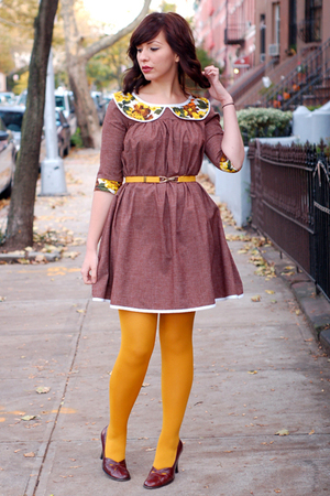 postlapsaria dress - belt - tights - shoes