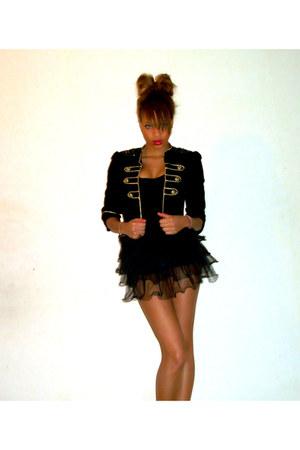 black Primark blazer - black new look skirt
