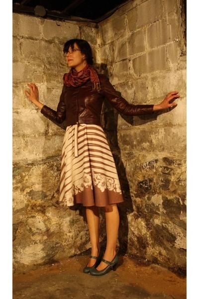 vintage dress - Target shoes - thrifted jacket - scarf