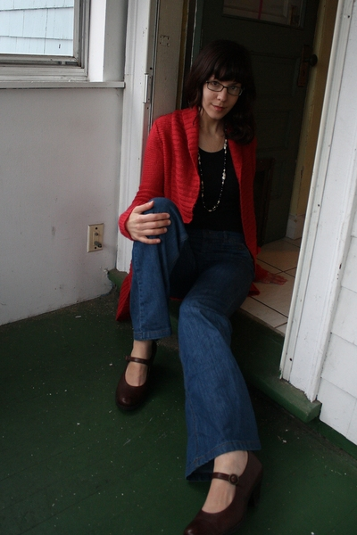 Urban Outfitters sweater - Fruit of the Loom shirt - forever 21 jeans - born sho