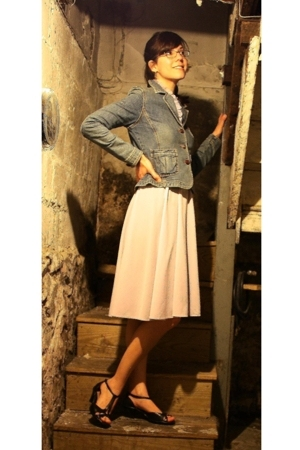 vintage dress - Lee jacket - I Love Comfort shoes