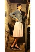 vintage dress - Lee jacket - I Love Comfort shoes