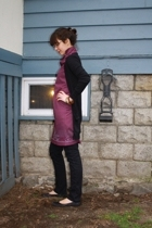 vintage dress - Anthropologie sweater - Gap jeans -  Cant remember shoes - Thrif