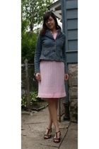 thrifted dress - Levis jacket - I Love Comfort shoes