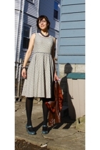 no brand dress - American Apparel tights - Target shoes - Leather Works by Fidel