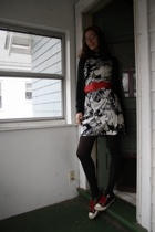altered by me dress - dont know belt - Anthropologie sweater - American Apparel