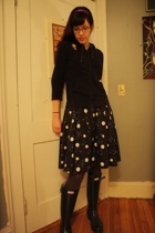 dress - J Crew jacket - American Apparel tights - Hunter boots - American Appare