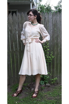 thrifted dress - thrifted accessories - Blowfish shoes - thrifted accessories -