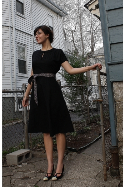 thrifted dress - Target shoes -  accessories