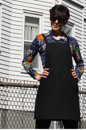 thrifted shirt - thrifted dress - American Apparel tights - I Love Comfort shoes