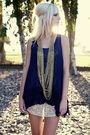 Gold-necklace-blue-odille-dress-white-free-people-skirt