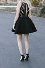 Black-keepsake-dress-gold-anthropologie-purse-gold-diy-crown-hair-accessory