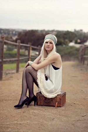 free people dress - JCrew tights