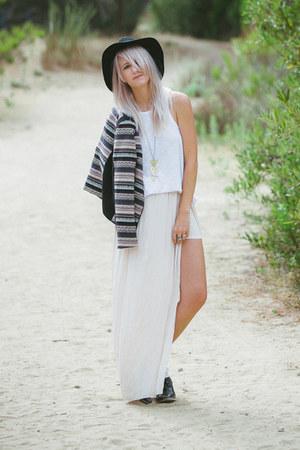 H&M jacket - Zara skirt - free people top