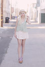 Ivory-home-made-dress-aquamarine-free-people-top-light-purple-ecote-heels
